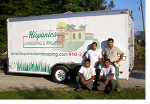 Hispanics Landscaping Team